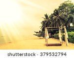 beautiful vintage beach and sea ... | Shutterstock . vector #379532794