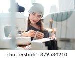 young lady dressmaker | Shutterstock . vector #379534210
