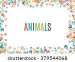 Colorful Animal Footprint...