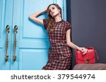 beautiful fashionable stylish... | Shutterstock . vector #379544974