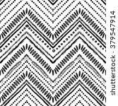 hand drawn pattern. zigzag and... | Shutterstock .eps vector #379547914