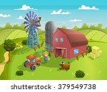 vector illustration of farm... | Shutterstock .eps vector #379549738
