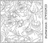 decorative vintage flowers... | Shutterstock .eps vector #379553923