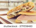 ham cheese cuban sandwich  | Shutterstock . vector #379558483