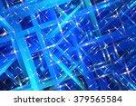 abstract blue fractal... | Shutterstock . vector #379565584