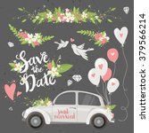 beautiful wedding clipart set... | Shutterstock .eps vector #379566214
