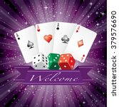 Vector Dice And Cards With...
