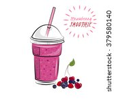 berries smoothie. smoothie to... | Shutterstock .eps vector #379580140