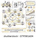 business doodle set. vector... | Shutterstock .eps vector #379581604