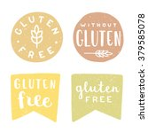 set of gluten free badges.... | Shutterstock .eps vector #379585078