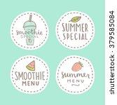 set of smoothie specials... | Shutterstock .eps vector #379585084