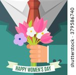 happy woman day  8 march ... | Shutterstock .eps vector #379586740