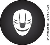 scary fun clown mask simple... | Shutterstock .eps vector #379587106