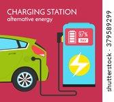 green power concept. electric... | Shutterstock .eps vector #379589299