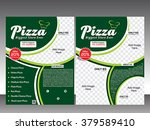 pizza store flyer   magazine... | Shutterstock .eps vector #379589410