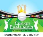 cricket tournament banner... | Shutterstock .eps vector #379589419