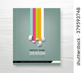 cover annual report colorful... | Shutterstock .eps vector #379593748