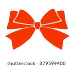 gift bows with ribbons red...   Shutterstock .eps vector #379599400