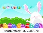 happy easter bunny | Shutterstock .eps vector #379600270