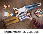 top view creative photo of... | Shutterstock . vector #379603258