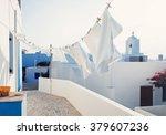 traditional greek houses  greece | Shutterstock . vector #379607236