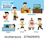 leisure activities. infographic ... | Shutterstock .eps vector #379609093