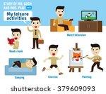leisure activities. infographic ... | Shutterstock .eps vector #379609093