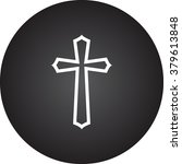 Religion Cross Simple Icon On...