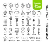 set of vegetable icons ... | Shutterstock .eps vector #379617988