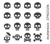 skull icon set | Shutterstock .eps vector #379621156