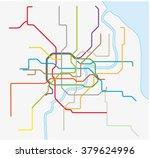 shanghai metro map | Shutterstock .eps vector #379624996