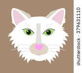 white cat head vector... | Shutterstock .eps vector #379631110