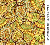 vector abstract leaves doodle... | Shutterstock .eps vector #379637956