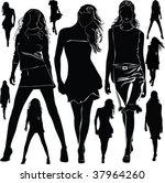 a lot of vector black... | Shutterstock .eps vector #37964260