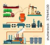 oil recovery  oil rig  oil...   Shutterstock .eps vector #379644130