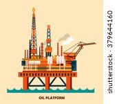 offshore oil platform design... | Shutterstock .eps vector #379644160