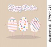 happy easter greeting card with ... | Shutterstock . vector #379644214