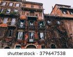 old street in trastevere in... | Shutterstock . vector #379647538
