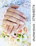 hands of the bride and groom...   Shutterstock . vector #379648576
