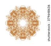 golden ornate decorative design | Shutterstock . vector #379648636