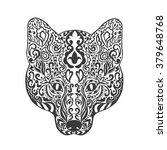 fox head. adult anti stress...   Shutterstock .eps vector #379648768