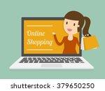 online shopping. business... | Shutterstock .eps vector #379650250