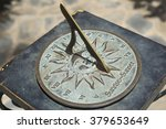Antique Sundial With Roman...
