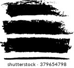 set of four black grunge vector ... | Shutterstock .eps vector #379654798