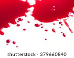 blood droplets on white ... | Shutterstock . vector #379660840