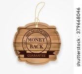 money back guarantee wooden...   Shutterstock .eps vector #379668046
