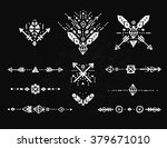 hand drawn tribal patterns with ... | Shutterstock .eps vector #379671010