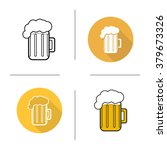 glass of beer flat design ... | Shutterstock .eps vector #379673326