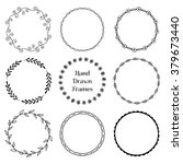 set of round hand drawn frames. ... | Shutterstock .eps vector #379673440
