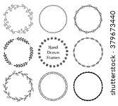 Set Of Round Hand Drawn Frames...
